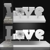 !Lyrical B!zarre Templates! - Roses Love Sign MESH DAE Version