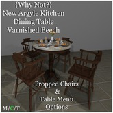 {Why Not?} New Argyle Kitchen Dining Set{Varnished Beech}-Boxed