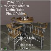 {Why Not?} New Argyle Kitchen Dining Set {Pine & White}-Boxed
