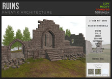 :FANATIK: RUINS – texture change ruin building kit (mesh with materials)