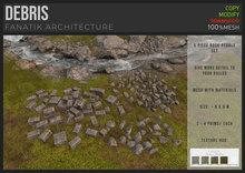 :FANATIK: DEBRIS – texture change stone rubble (mesh with materials)