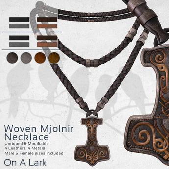*OAL* Woven Necklace ~ Mjolnir