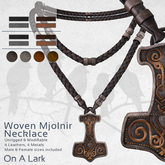 *OAL* Woven Necklace ~ Mjolnir