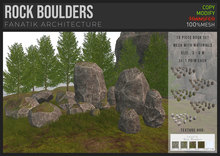 :FANATIK: ROCK BOULDERS – texture change stone slabs building kit (mesh with materials)