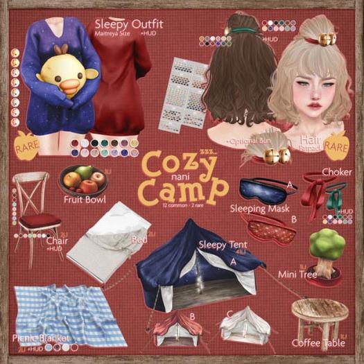 [DEMO] nani - cozy camp - maitreya gacha