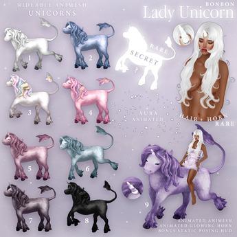 bonbon - lady unicorn - (FATPACK copy ver.) READ DESCRIPTION
