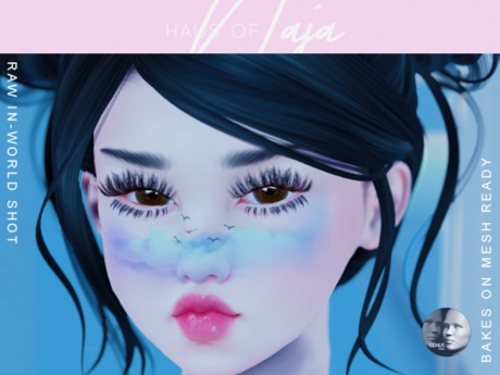 !hn! // blue sky face paint