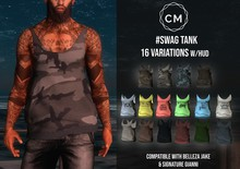 CM. #SWAG TANK - dirty WHITE