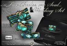"""•:*´❤❤`*:• Two Bodies, One Soul... """"Sea of Love"""" Wedding Rings"""