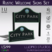 Rural Welcome Sign (Set) - 100% Mesh