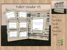 Pallet Vendor V1 -wooden Caspervend Addon