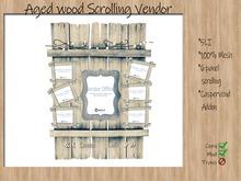 6 Panel Aged wood Scrolling Vendor (CasperVend Addon)