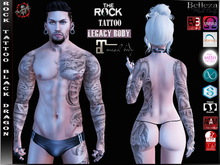 Rock Tattoo Unisex - Black Dragon ( Full Body )
