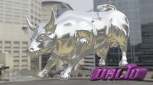 VALID . Charging Bull Statue