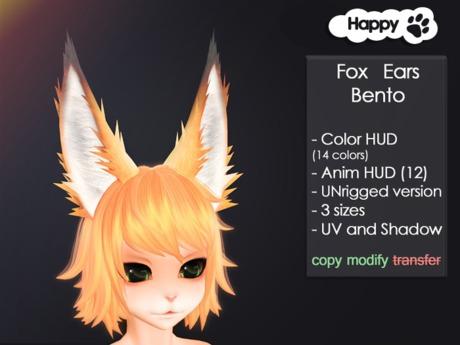 Happy Paw - Fox Ears Bento