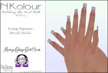 N.Kolour: Belleza Long Square Bento Nails - Omega