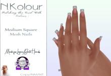 N.Kolour: Legacy Medium Square Bento Nails - Omega
