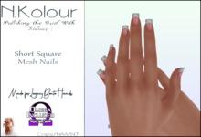 N.Kolour: Legacy Short Square Bento Nails - Omega