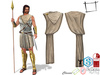 Full Perm Men's Roman Soldier Toga Cape Slink Male, Belleza Jake, Signature Gianni, Ocacin Gamit, Onupup