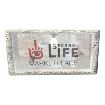 *WW* Free Grungy Marketplace Sign Mesh w/ URL script