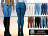 Addams - Addison - Jeans & Leather Pants with Belt #FATPACK
