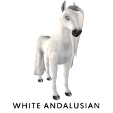 Amaretto Breedable Bundle Female, White Andalusian, Persimmon, Shoe Branding, Candy Cane