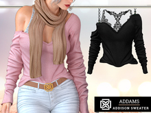 Addams - Addison - Loose Sweater & Bralette #30