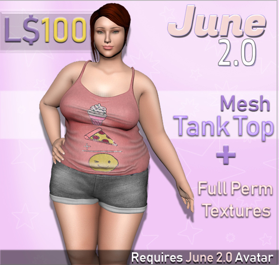 June 2.0 Tank top - Pizza Icecream