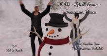 KAD - Let it Snow - Snowman Peace! - WEAR ME TO UNPACK