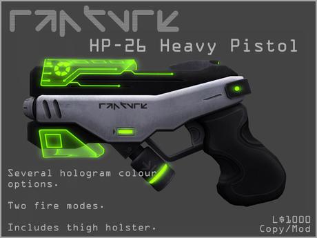 Rapture - HP-26 Heavy Pistol