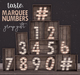 Tarte. marquee numbers   mp