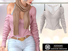 Addams - Addison - Loose Sweater & Bralette #01