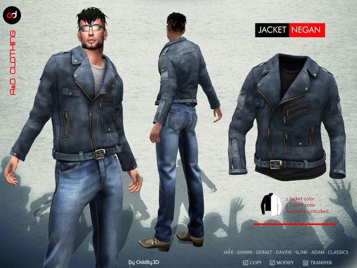 A&D Clothing - Jacket -Negan- Blue