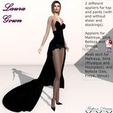 Laura Gown Black - Fashion Dream