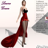 Laura Gown Red - Fashion Dream