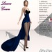 Laura Gown Dark Blue - Fashion Dream