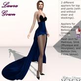 Laura Gown Dark Blue - Fashion Dream