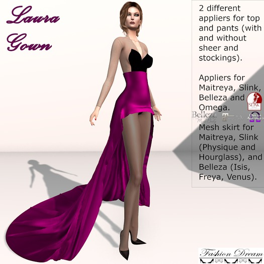 Laura Gown Magenta - Fashion Dream