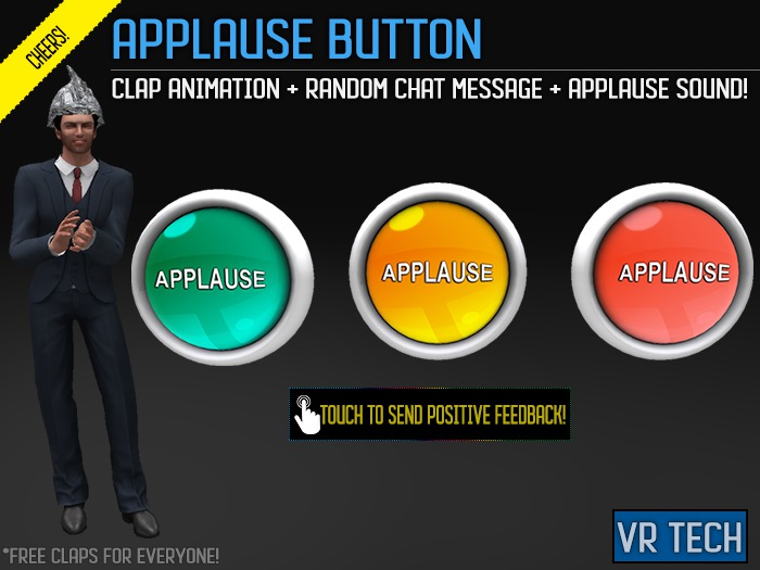 VR-TECH Applause Buttons