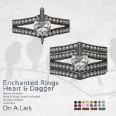 *OAL* Enchanted Ring Heart Diamond & Dagger