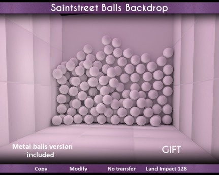 Saintstreet Balls Backdrop Gift