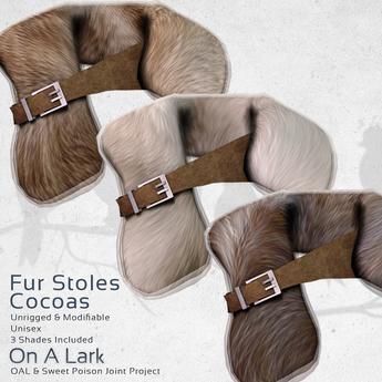 *OAL* Fur Stoles ~ Cocoas