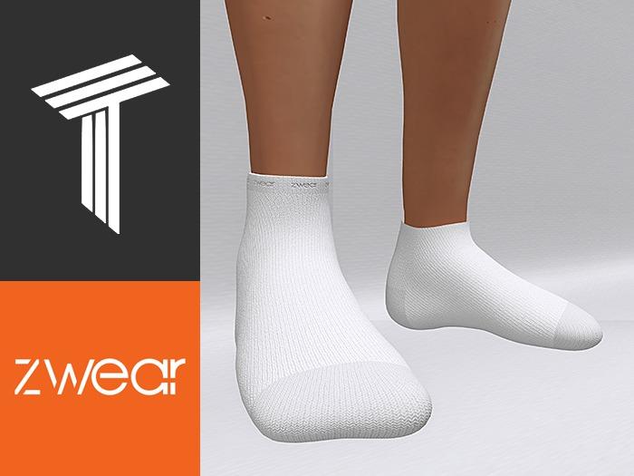 ZWEAR Tweenster Socks - Plain White
