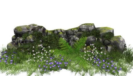 Second Life Marketplace Jad Garden Simple Rocks Border With