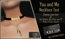 [T.T] TeSs Touch _ BOX _ Necklace YOU and ME