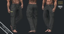 MCM - PANTS black cloth AESTHETIC