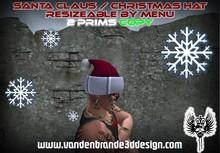 ~ Christmas hat Santa hat resizeable by click (menu)