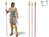 None Rigged Roman Soldier Spear