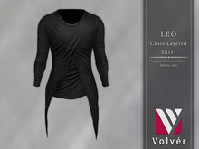 //Volver// Leo Cross Layered T-shirt - Black