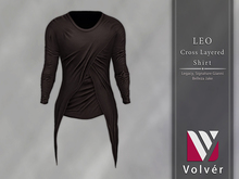 //Volver// Leo Cross Layered T-shirt - Espresso